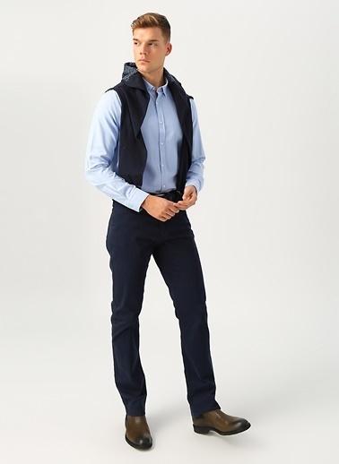 Cotton Bar Klasik Pamuklu Koyu Erkek Pantolon Lacivert